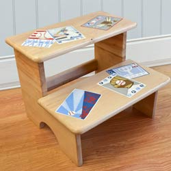 Vintage Baseball Cards Step Stool