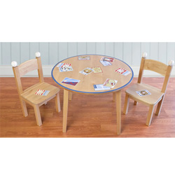 Vintage Baseball Cards Table and Chair Set