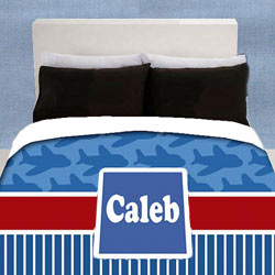 Personalized Airplane Bedding Set