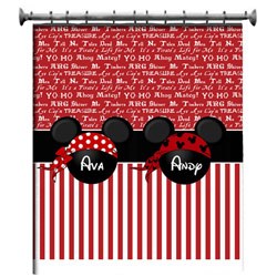 Personalized Mickey Minnie Pirate Shower Curatain
