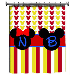 Personalized Mickey Mouse Shower Curtain