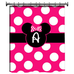 Personalized Minnie Mouse Shower Curtain