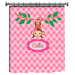 Personalized Swinging Monkey Bedding Set