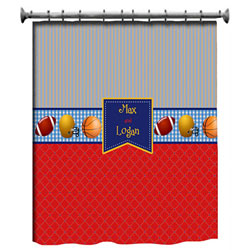Personalized Play Ball Shower Curtain
