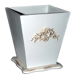 French Rose Waste Basket