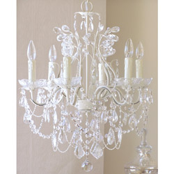 6 Light Leafy Crystal Chandelier