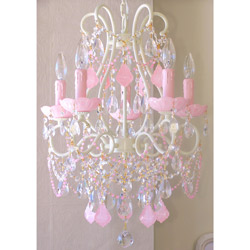Opal Crystal 5 Light Beaded Chandelier