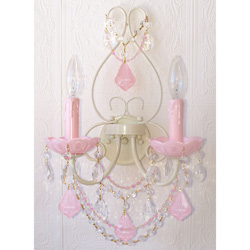 Opal Crystal Wall Sconce
