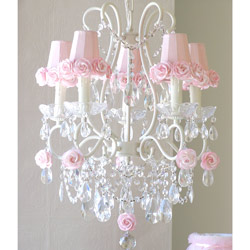 Rose Shade 5 Light Chandelier