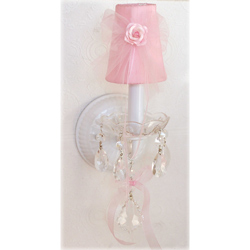 Pink Tulle Sconce