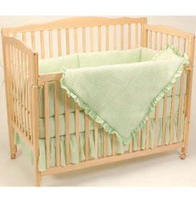 Deluxe Waffle Portable Crib Bedding