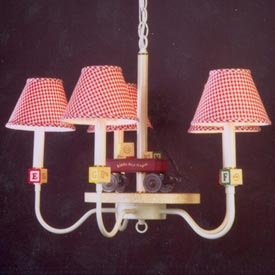 Wagon and Blocks Chandelier
