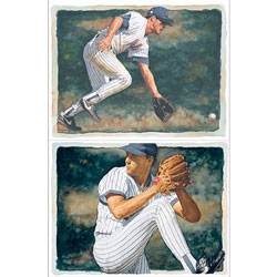 Baseball Watercolor Wall Art