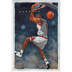 Basketball Watercolor Wall Art