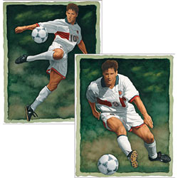 Soccer Watercolor Wall Art