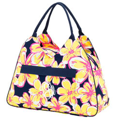 Personalized Beach Floral Beach Bag