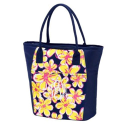 Personalized Beach Floral Cooler Tote