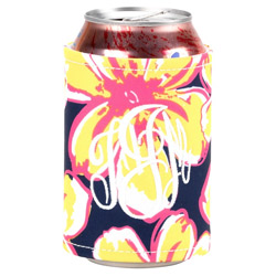 Personalized Beach Floral Coozie