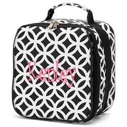 Personalized Black Sadie Lunch Bag