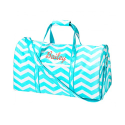 Personalized Chevron Duffle Bag