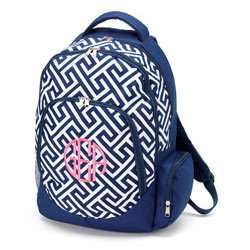 Personalized Greek Key Backpack