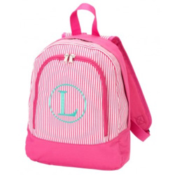 Personalized Pinstripe Preschool Backpack