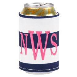 Personalized Prep Stripe Coozie