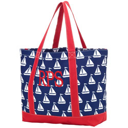 Personalized Sail Away Tote Bag