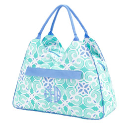 Personalized Sea Tile Beach Bag