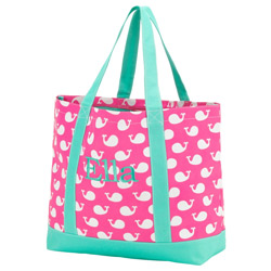 Personalized Whales Tote Bag