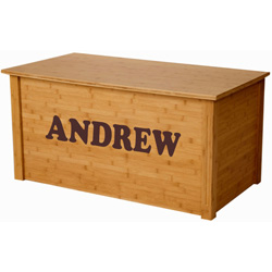 Personalized Bamboo Toy Box