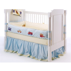Wheels Crib Bedding Set