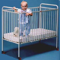 Metal Foldable Crib - Large Size
