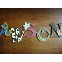 Cowboy Wall Letters