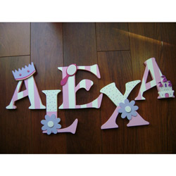 Alexa�s Princess Wall Letters