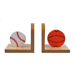 Baseball and Basketball Bookends