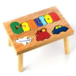Personalized Transportation Puzzle Stool