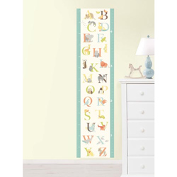 ABC Jungle Growth Chart Wall Decal