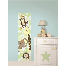 Jungle Friends Growth Chart Wall Decal