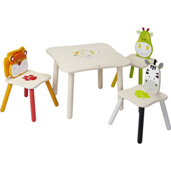 Eco-Friendly Safari Table and Chair Set