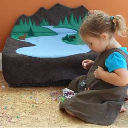 Northern Forest Felt Toy Box
