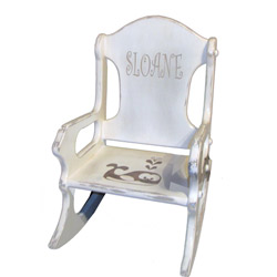 Personalized Shabby Chic Kids Rocking Chair