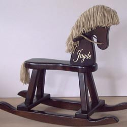 Personalized Espresso Rocking Horse