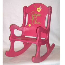 Pink and Posies Rocking Chair