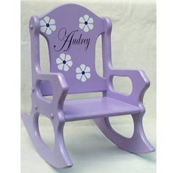 Perfectly Purple Rocking Chair