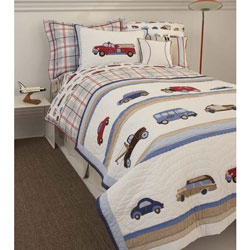 Cars and Trucks Twin Bedding Collection