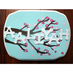 Cherry Blossom Name Plaque