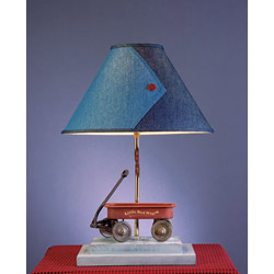 My Little Red Wagon Lamp