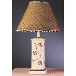 Pink Square Column Lamp with Chocolate Flowers