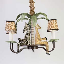 5 Arm Safari Chandelier
